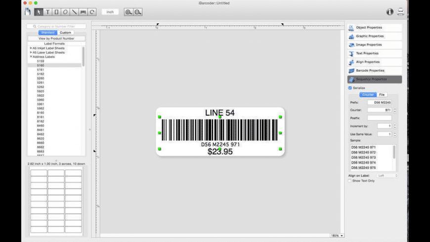 iBarcoder for Mac - review, screenshots