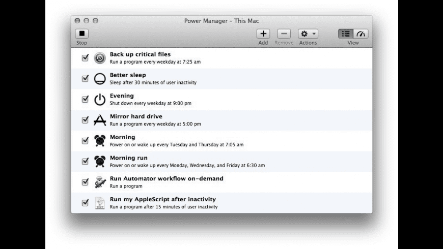 Power Manager for Mac - review, screenshots