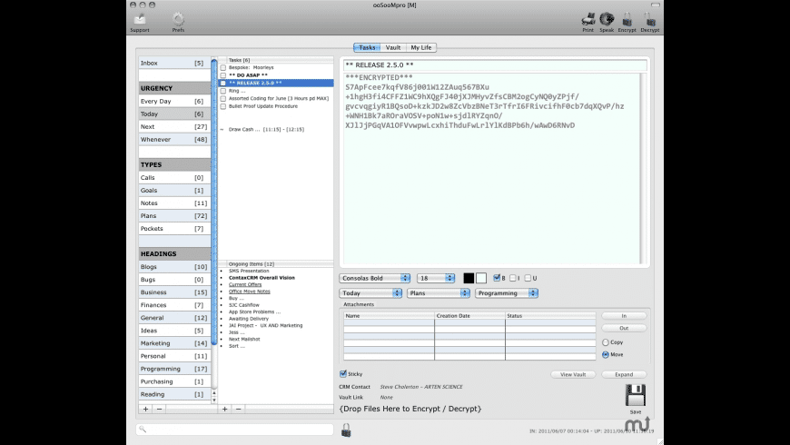 ooSooMpro for Mac - review, screenshots