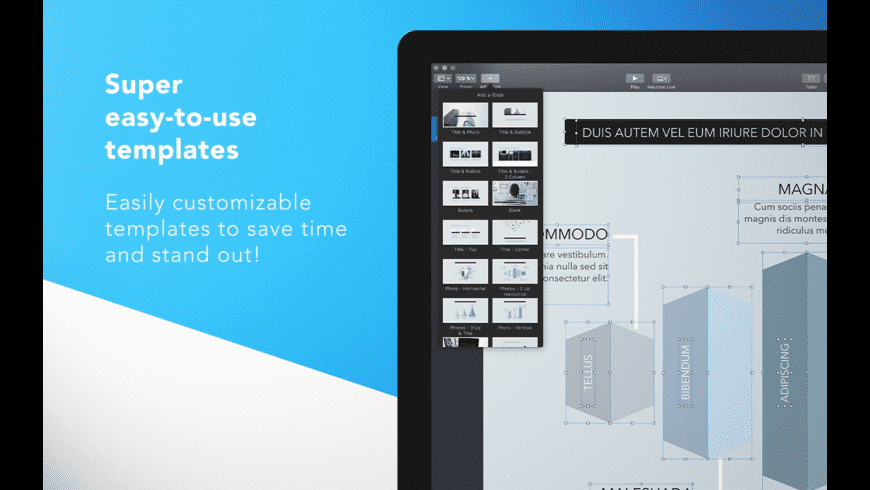 DesiGN Templates for Keynote for Mac - review, screenshots
