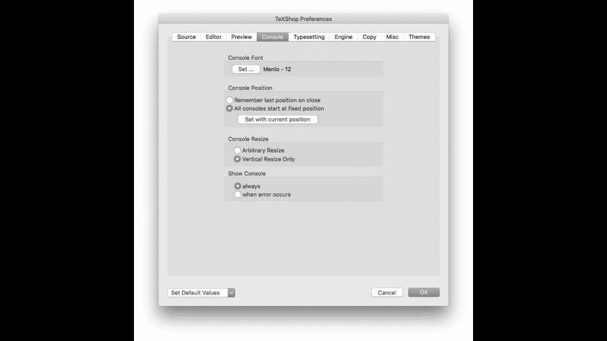 TeXShop for Mac - review, screenshots