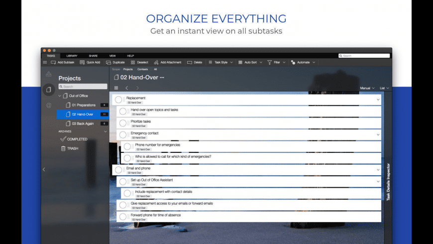 Organize:Pro for Mac - review, screenshots