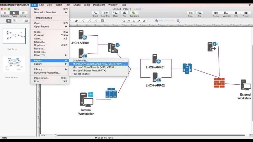 ConceptDraw DIAGRAM for Mac - review, screenshots