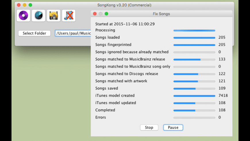 SongKong for Mac - review, screenshots