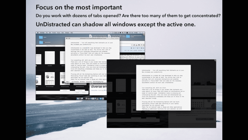 UnDistracted for Mac - review, screenshots