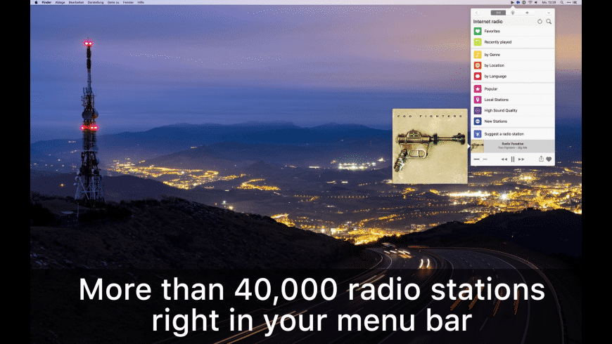 Receiver Radio for Mac - review, screenshots