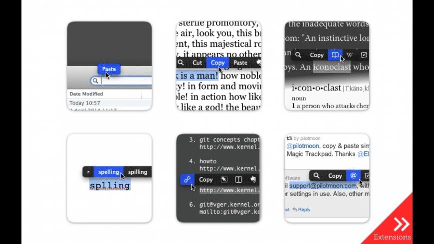 PopClip for Mac - review, screenshots