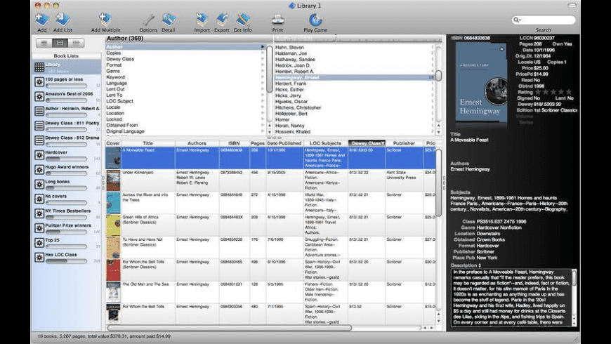 Booxter for Mac - review, screenshots