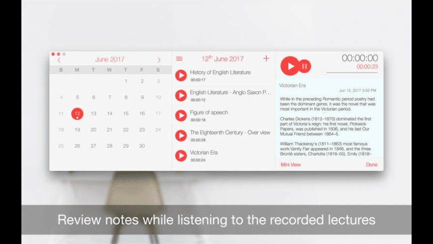 Record Lectures for Mac - review, screenshots
