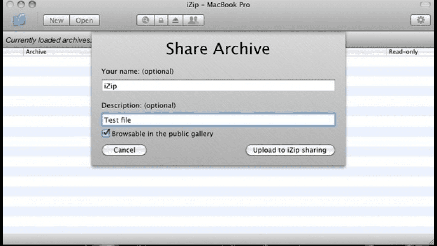 iZip for Mac - review, screenshots