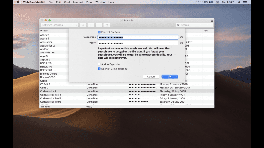 Web Confidential for Mac - review, screenshots