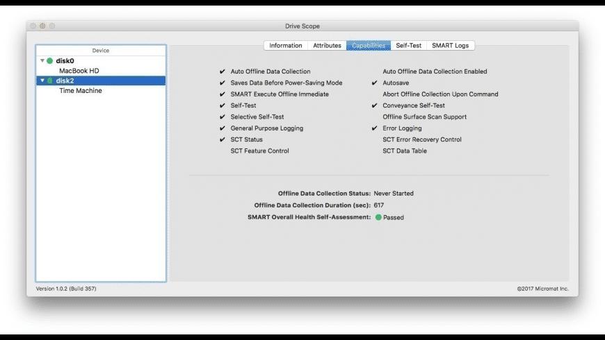 Drive Scope for Mac - review, screenshots