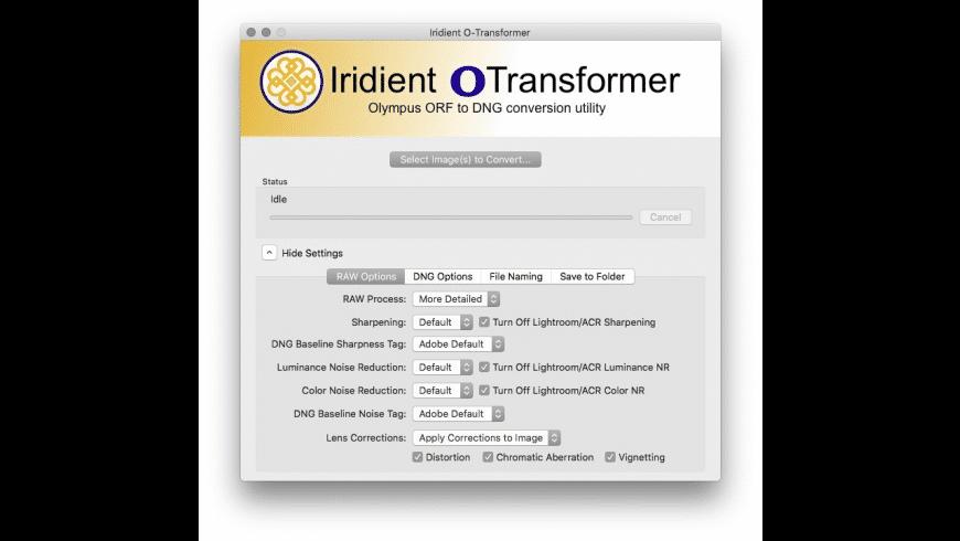 Iridient O-Transformer for Mac - review, screenshots