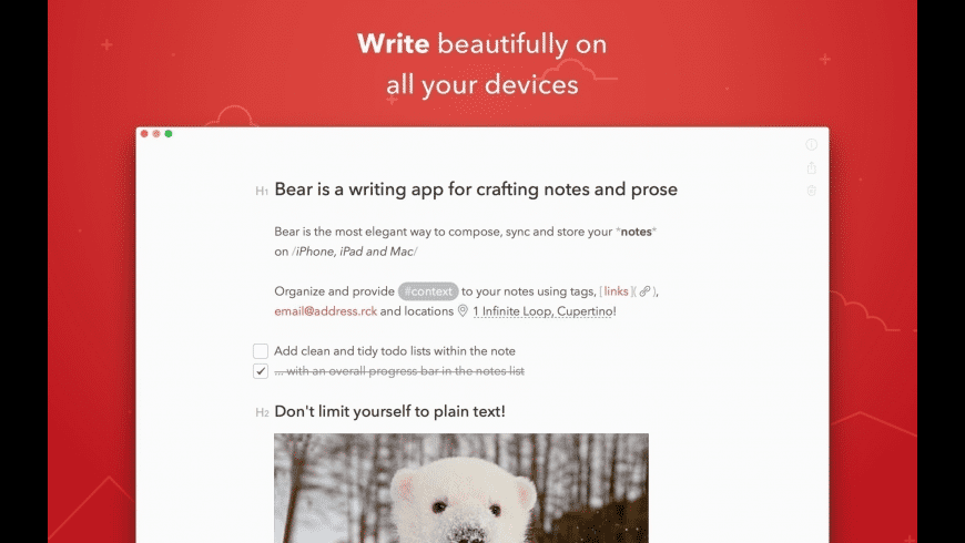 Bear for Mac - review, screenshots