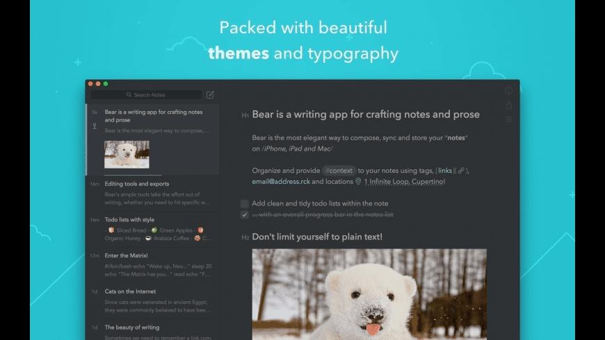 Bear for Mac - review, screenshots