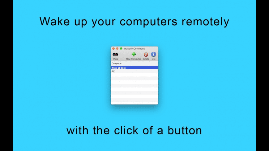 WakeOnCommand for Mac - review, screenshots
