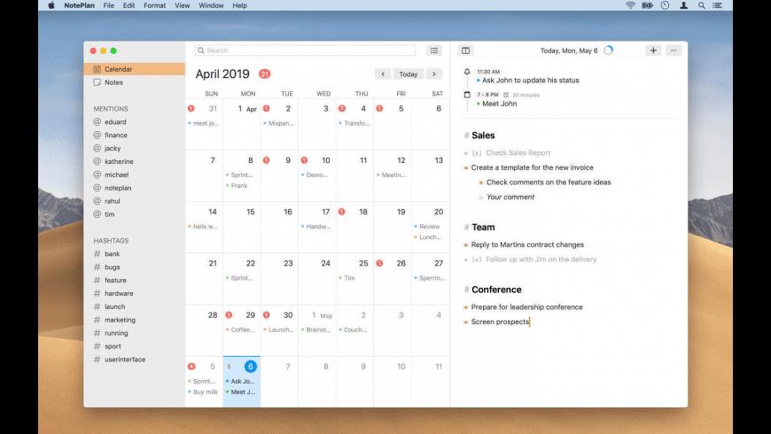 NotePlan for Mac - review, screenshots