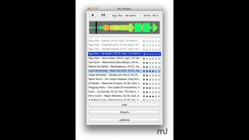 MusicPlayer for Mac - review, screenshots