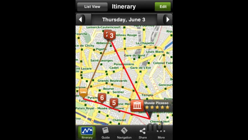 Paris Travel Guide - mTrip for Mac - review, screenshots