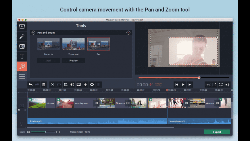 Movavi Video Editor Plus for Mac - review, screenshots