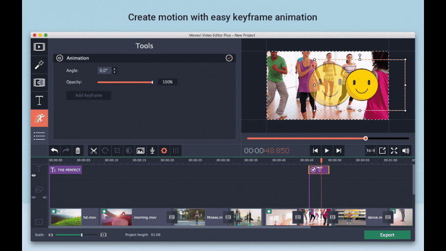 Movavi Video Editor Plus 2020 Mac 破解版 视频编辑软件-麦氪搜(iMacso.com)