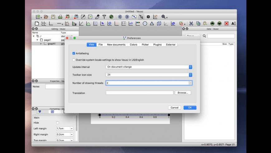 Veusz for Mac - review, screenshots