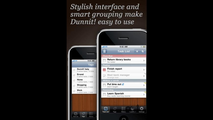 Dunnit for Mac - review, screenshots