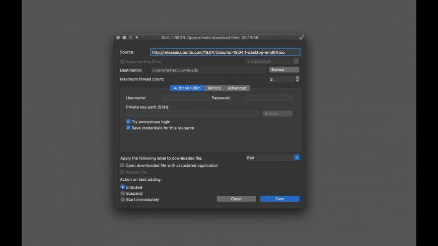 Progressive Downloader for Mac - review, screenshots