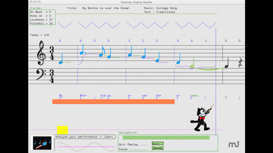 Listening Singing Teacher for Mac - review, screenshots