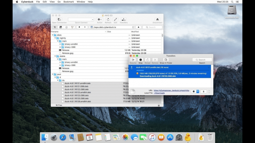 Cyberduck for Mac - review, screenshots