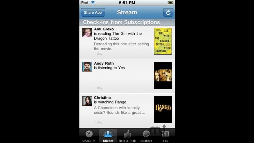 GetGlue for Mac - review, screenshots