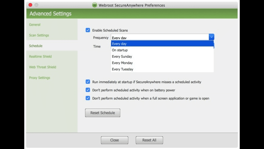 Webroot for Mac - review, screenshots