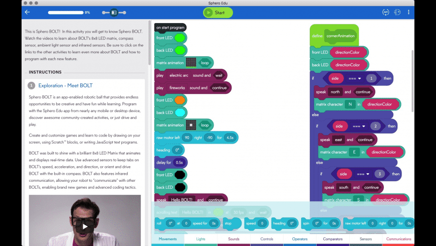 Sphero Edu for Mac - review, screenshots