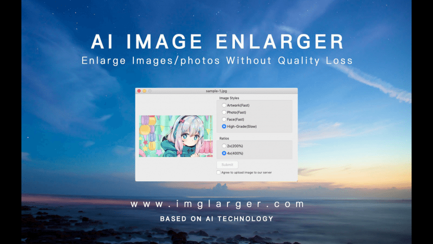 AI Image Enlarger for Mac - review, screenshots