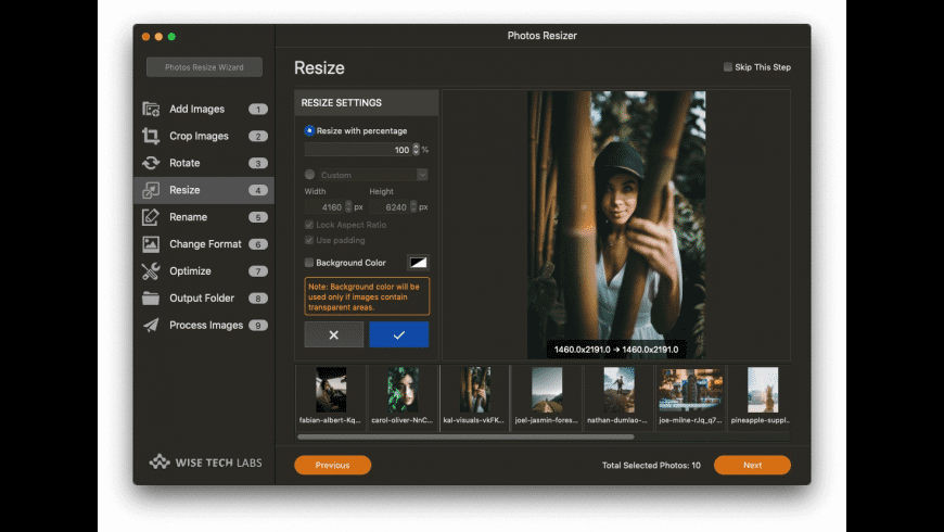 Photos Resizer for Mac - review, screenshots