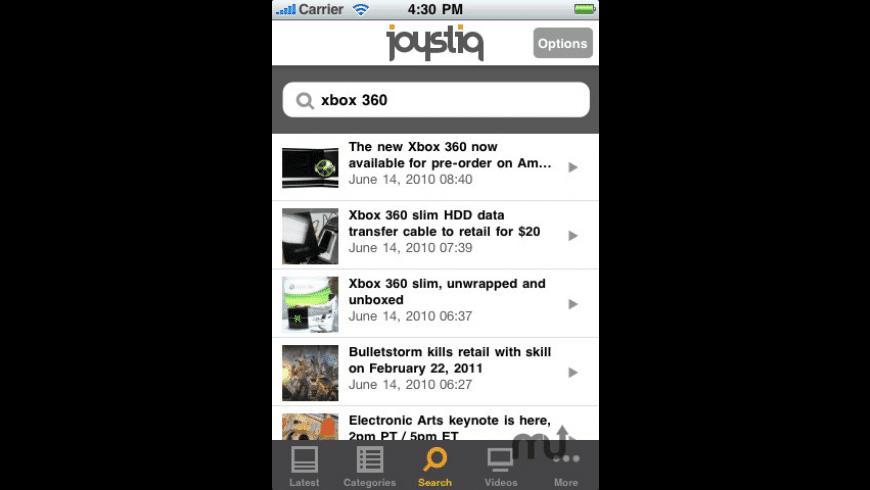 Joystiq for Mac - review, screenshots