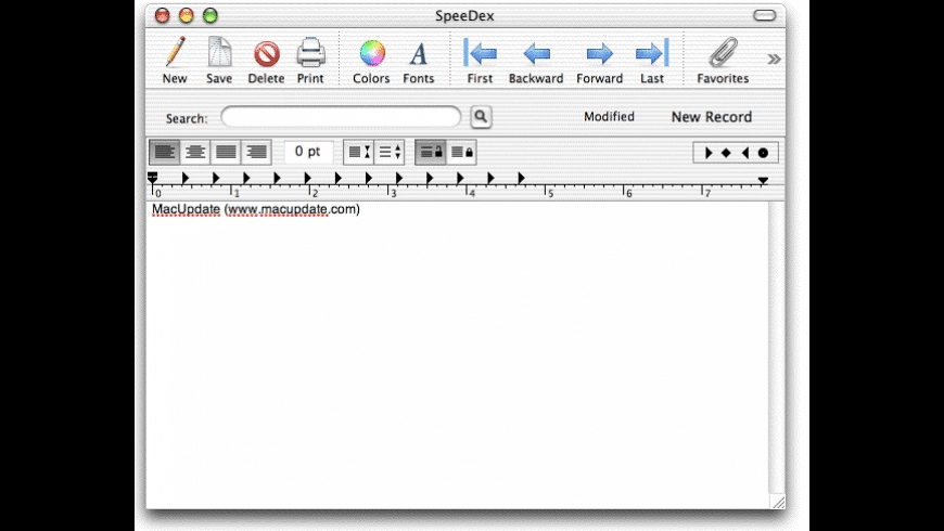 SpeeDex for Mac - review, screenshots