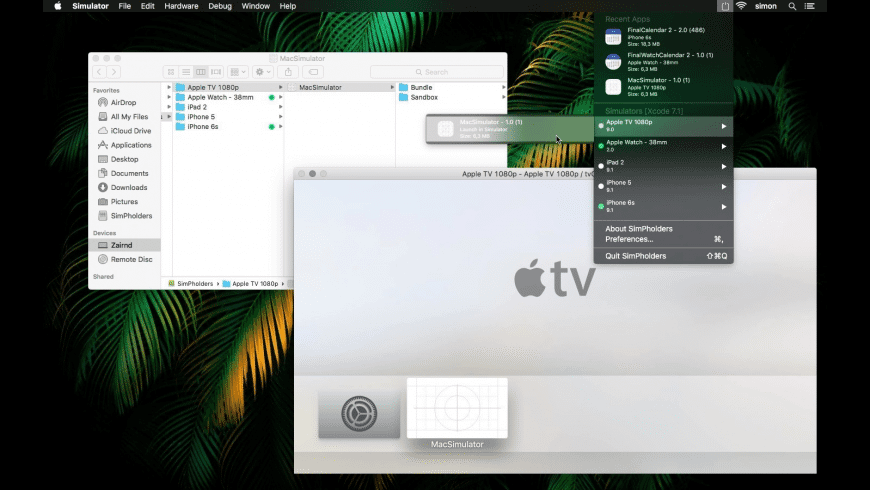 SimPholders for Mac - review, screenshots