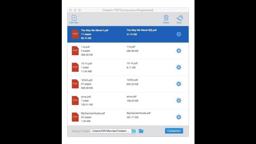 Cisdem PDFCompressor for Mac - review, screenshots