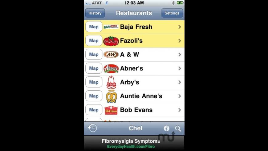 Restaurant Nutrition for Mac - review, screenshots
