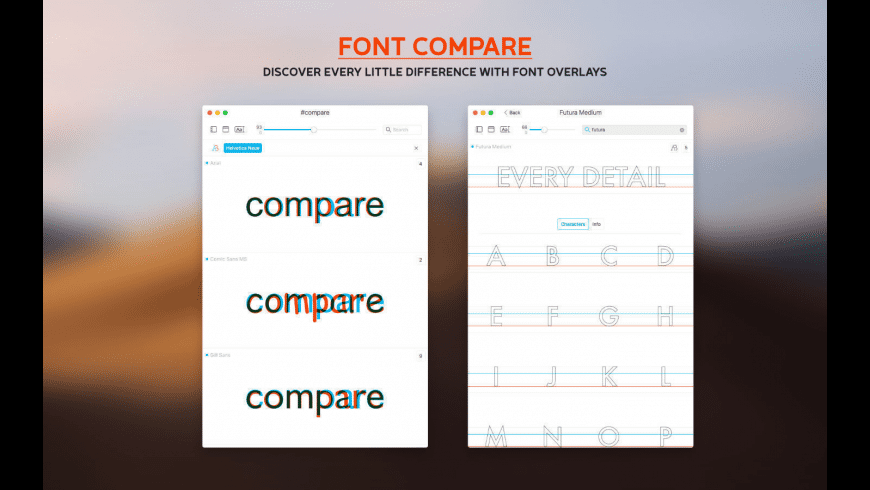 Typeface for Mac - review, screenshots