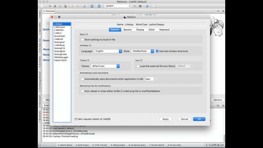 LiteIDE for Mac - review, screenshots