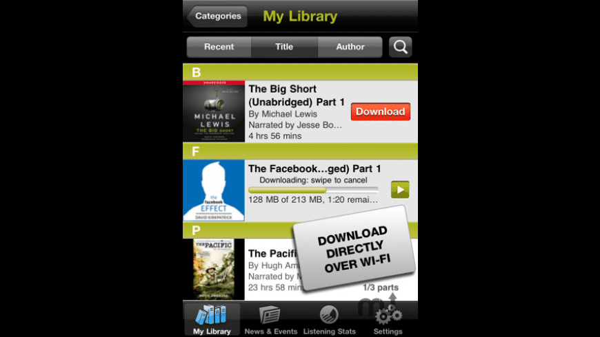 Audible for Mac - review, screenshots