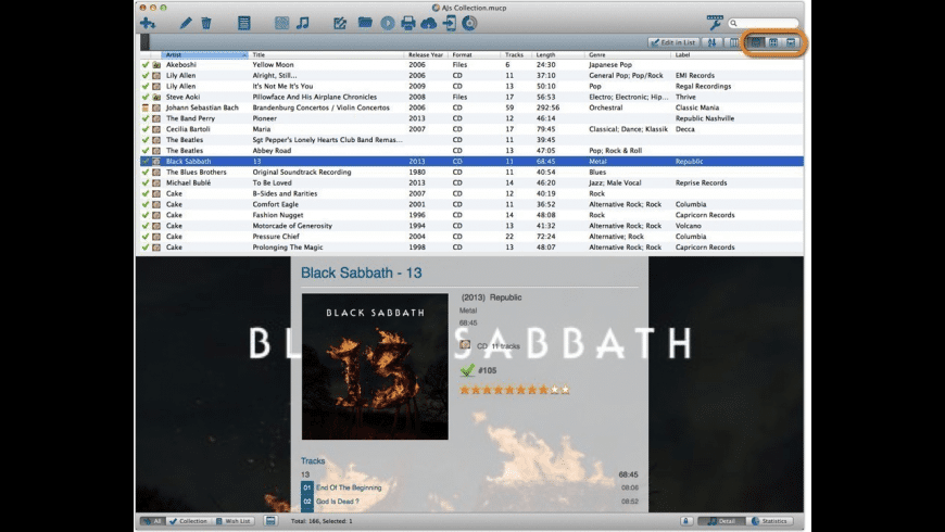 Music Collector for Mac - review, screenshots