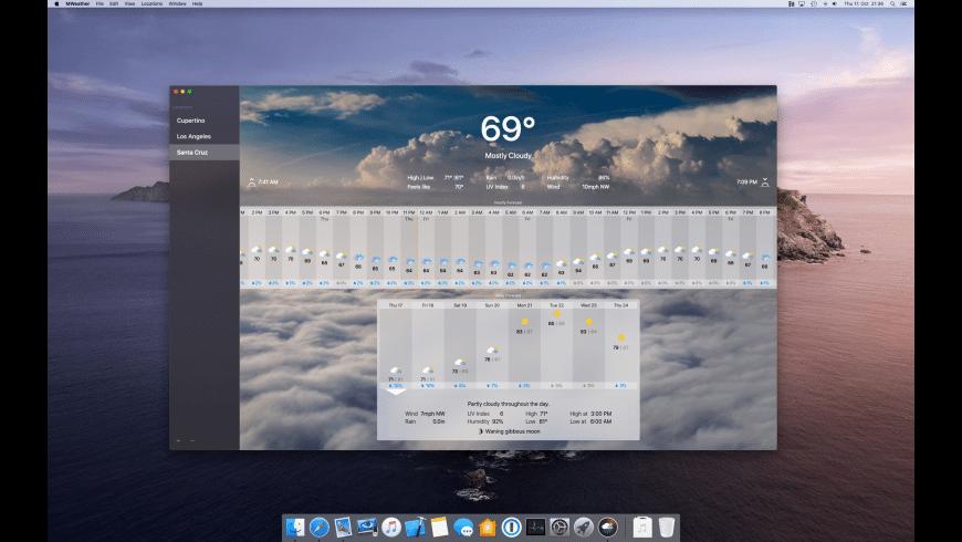 MWeather for Mac - review, screenshots