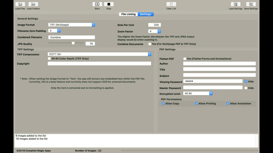 CM PDF & TIFF Page Extractor for Mac - review, screenshots