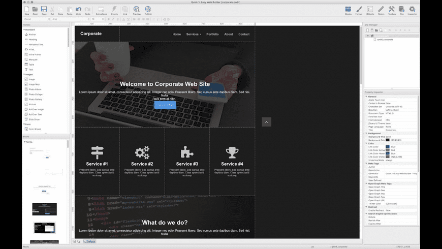 Quick 'n Easy Web Builder for Mac - review, screenshots