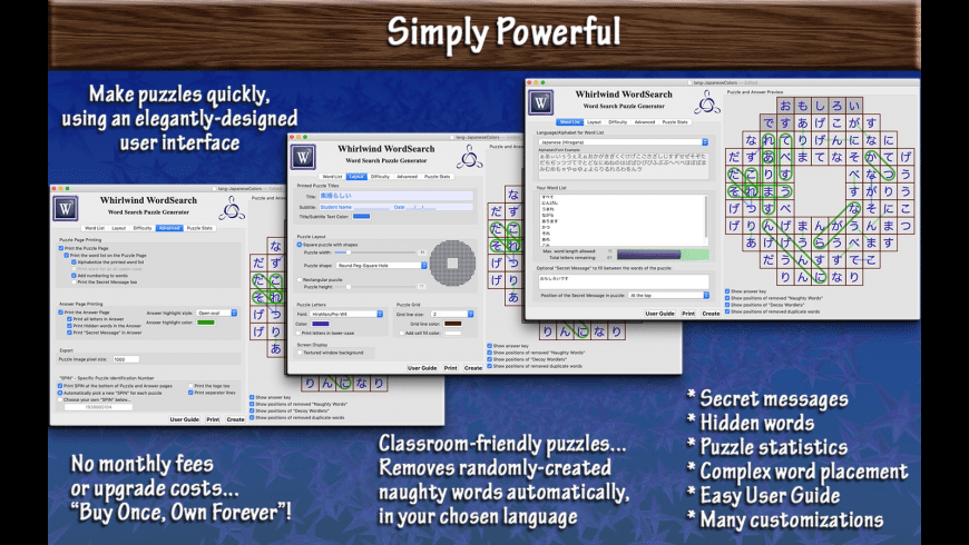 Whirlwind WordSearch Lite for Mac - review, screenshots