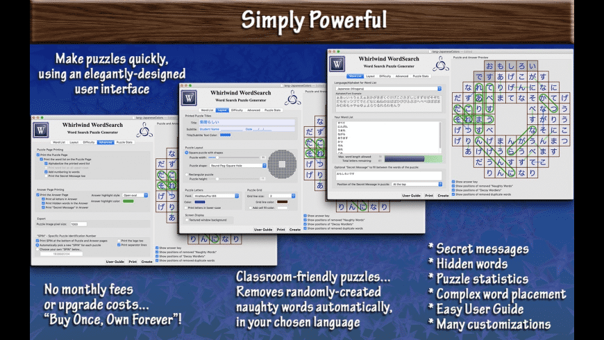 Whirlwind WordSearch for Mac - review, screenshots