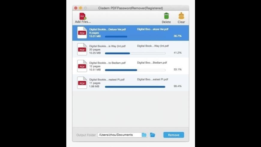 Cisdem PDF Password Remover for Mac - review, screenshots